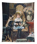 Doddy And Her Pets Tapestry