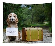 Dog And Suitcase Tapestry