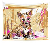 dog I did not make this mess Tapestry