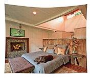 Dog In Luxury Tapestry