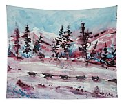 Dog Sled Tapestry
