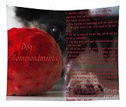 Dog Ten Commandments Tapestry