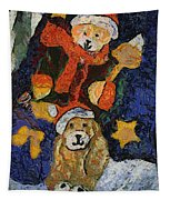 Doggie Xmas Stocking 03 Photo Art Tapestry