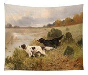 Dogs On The Scent Tapestry