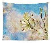 Dogwood Against Blue Sky Tapestry