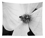 Dogwood Black And White 2 Tapestry