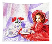 Doll At The Tea Party  Tapestry