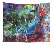 Dolphin Dives Tapestry