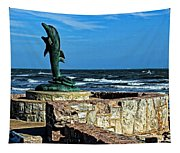 Dolphin Statue Tapestry