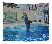 Dolphin Walking On Water Digital Art Tapestry