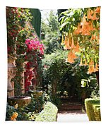 Dolphinfountain And Flowers - France Tapestry
