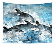 Dolphins In Gran Canaria Tapestry