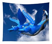 Donna's 1st Blue Bird Flight Tapestry