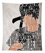 Donnie Darko Minimalist Typography Artwork Tapestry