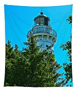 Door County Wi Lighthouse Tapestry