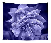 Double Columbine In Blue Tapestry