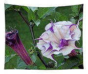 Double Purple Datura 6 Tapestry
