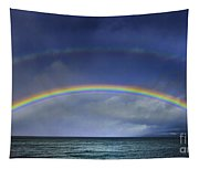 Double Rainbow Over Lake Tahoe Tapestry
