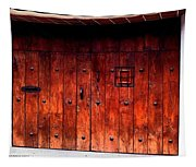 Double Studded Wood Doors Tapestry