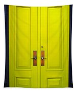 Double Yellow Doors Tapestry