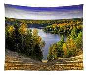 Down Hill Into Fall Tapestry