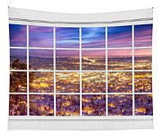 Downtown Boulder Colorado City Lights Sunrise  Window View 8lg Tapestry