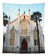 Downtown Charleston Church Tapestry