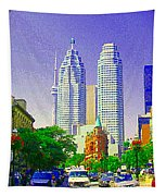 Downtown Core Flatiron Building And Cn Tower Toronto City Scenes Paintings Canadian Art Cspandau Tapestry