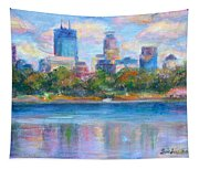 Downtown Minneapolis Skyline From Lake Calhoun Tapestry