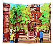 Downtown Montreal Mcgill University Streetscenes Tapestry