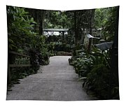 Downward Sloping Part Inside The National Orchid Garden In Singapore Tapestry