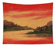 Dragon Sunset Tapestry