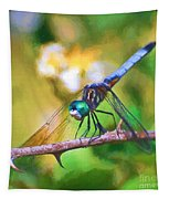 Dragonfly Art - A Thorny Situation Tapestry