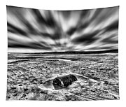 Drama At Freshwater West Mono Tapestry