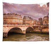 Dramatic Parisian Sky Tapestry