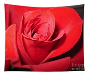 Dramatic Red Rose  Tapestry