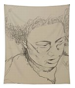 Drawing Of A Woman Tapestry