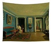 Drawing Room With Columned Entresol  Tapestry