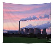 Drax Power Station At Sunset Tapestry