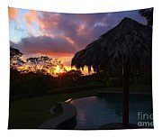 Dream Sunset In Costa Rica Tapestry
