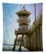 Dreamy Day At Huntington Beach Pier Tapestry