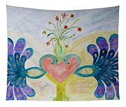 Dreamy Heart Tapestry