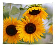 Dreamy Sunflower Day Tapestry