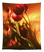 Dreamy Tulips Tapestry