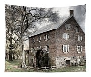 Dreary Skies At Kerr Gristmill Tapestry