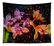 Drenched Flowers Tapestry