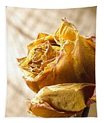 Dried Yellow Rose Tapestry