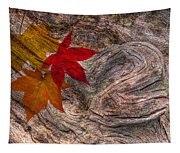 Drifting Autumn Leaves Tapestry
