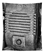 Drive In Movie Speaker In Black And White Tapestry