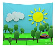 Driving Through Countryside Tapestry